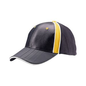 cbf25d0fcb0 Structured Leather Fitted Cap w  PVC Embossed Bill - 6942 - IdeaStage  Promotional Products