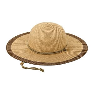 973ac6b62d26e Ladies  Toyo Braid Color Block Sun Hat w  Chin Strap - 8237 - IdeaStage  Promotional Products