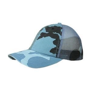 ce48c344250 Enzyme Washed Camouflage Mesh Cap - 9031M - IdeaStage Promotional Products