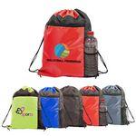 Custom Color Block Drawstring Backpack