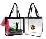 Custom Clear Security Open Tote Bag.