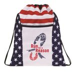 Custom Patriotic Drawstring Backpack