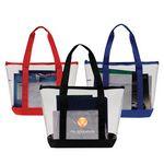 Custom Clear Zipper Tote Bag W/ 6