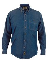 Men's Long Sleeve Medium Blue Denim Shirt