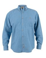 Men's Long Sleeve Ice Blue Denim Shirt