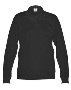 d88d521be04178 Men s Long Sleeve Performance Polo Shirt (Black) - 702-99 - Brilliant  Promotional Products