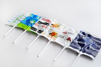 Premium Individually Wrapped Custom Printed Lollipop With Company Logo Wrapper