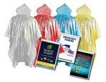 Custom Emergency Blank Rain Poncho One Color Custom Insert