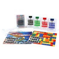 "Classic Cloth Flat Travel Kit - 4-Color Process (6""x6"")"