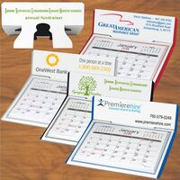 Desk Calendar, month per page with pop-up stand.