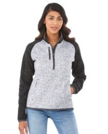Women's Vorlage Half Zip Knit Jacket, #98611 - Embroidered