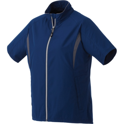 Powell Short Sleeve Women's Full Zip Windshirt, #92801 - Embroidered