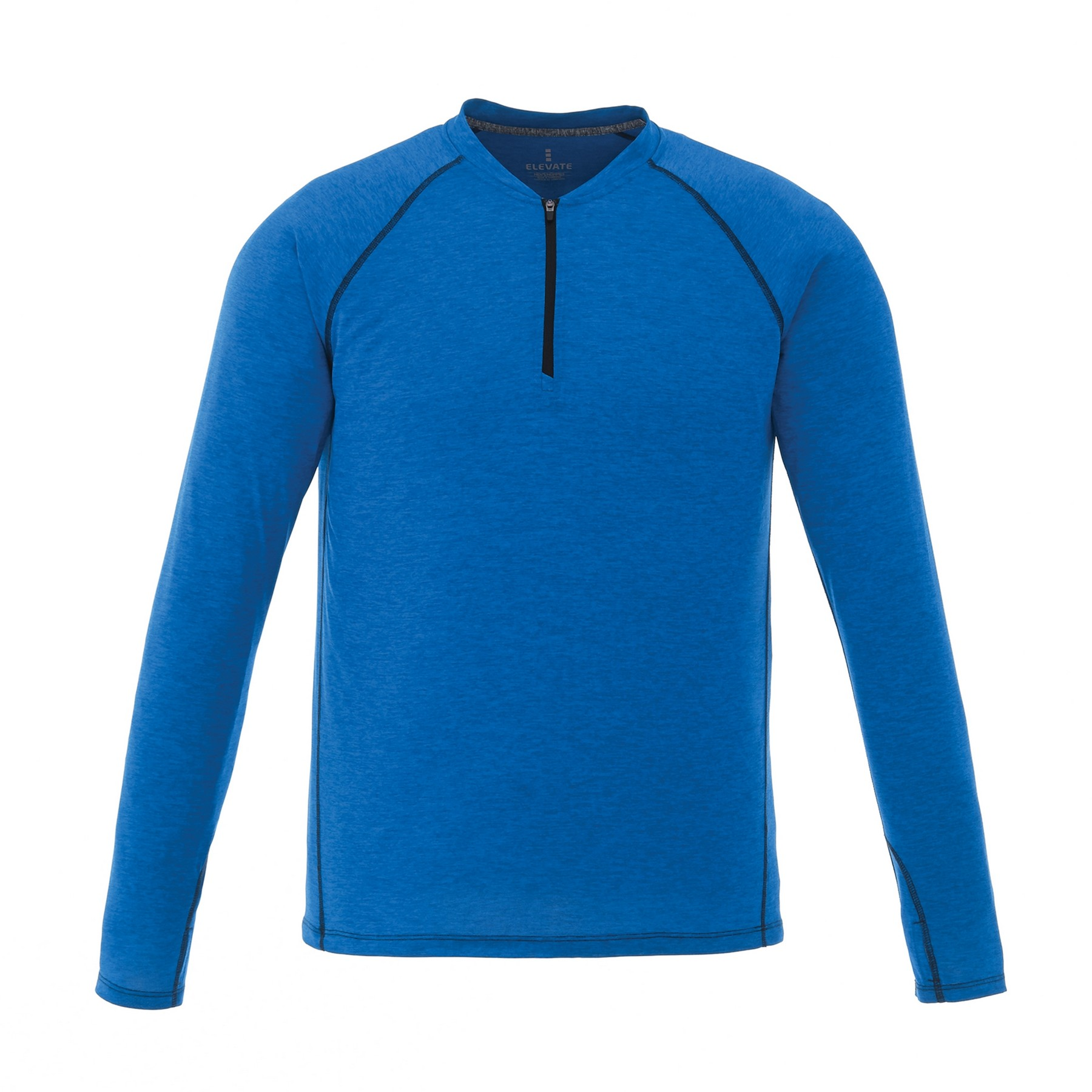 Quadra Long Sleeve Men's Knit Shirt, #17812 - Embroidered