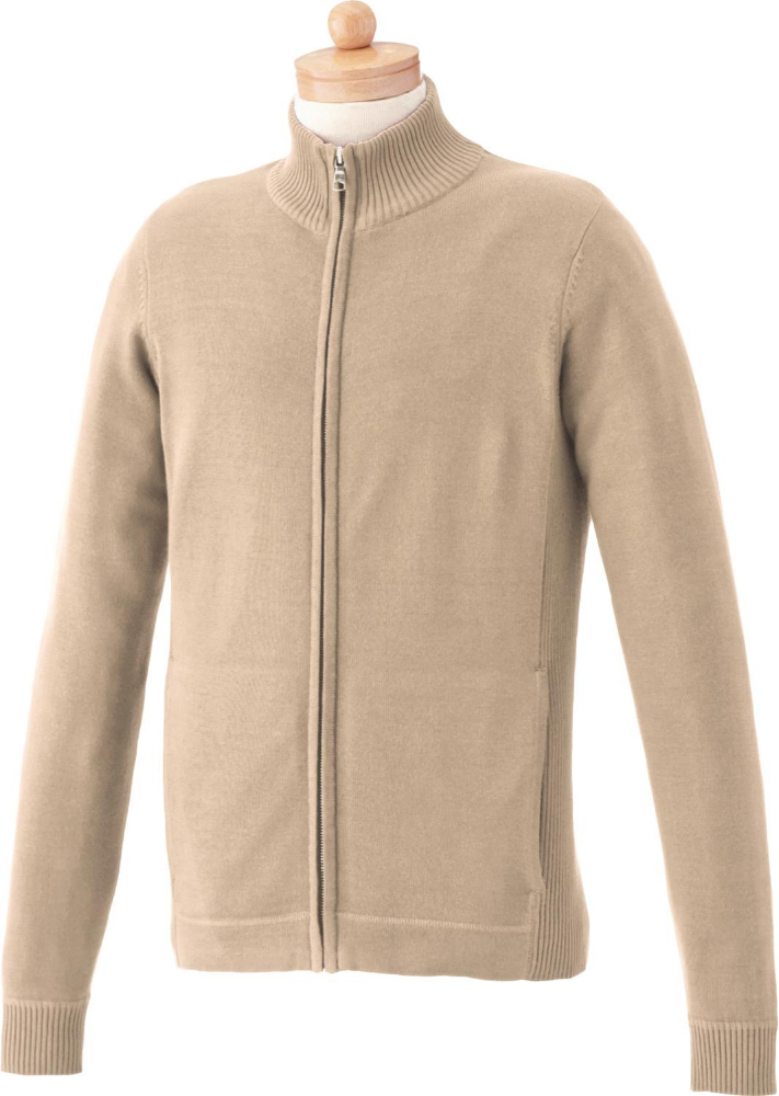Lockhart Full Zip Front Men's Sweater, #18606 - Embroidered