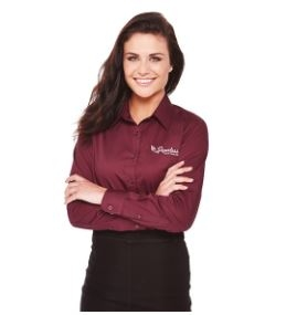 Wilshire Long Sleeve Women's Shirt, #97744 - Embroidered