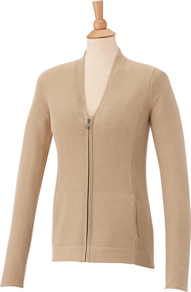 Lockhart Full Zip Front Women's Sweater, #98606 - Embroidered