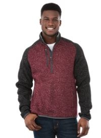 Mens Vorlage Half Zip Knit Jacket, #18611 - Embroidered