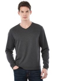 Mens Bromley Knit V-Neck Shirt, #18614 - Embroidered