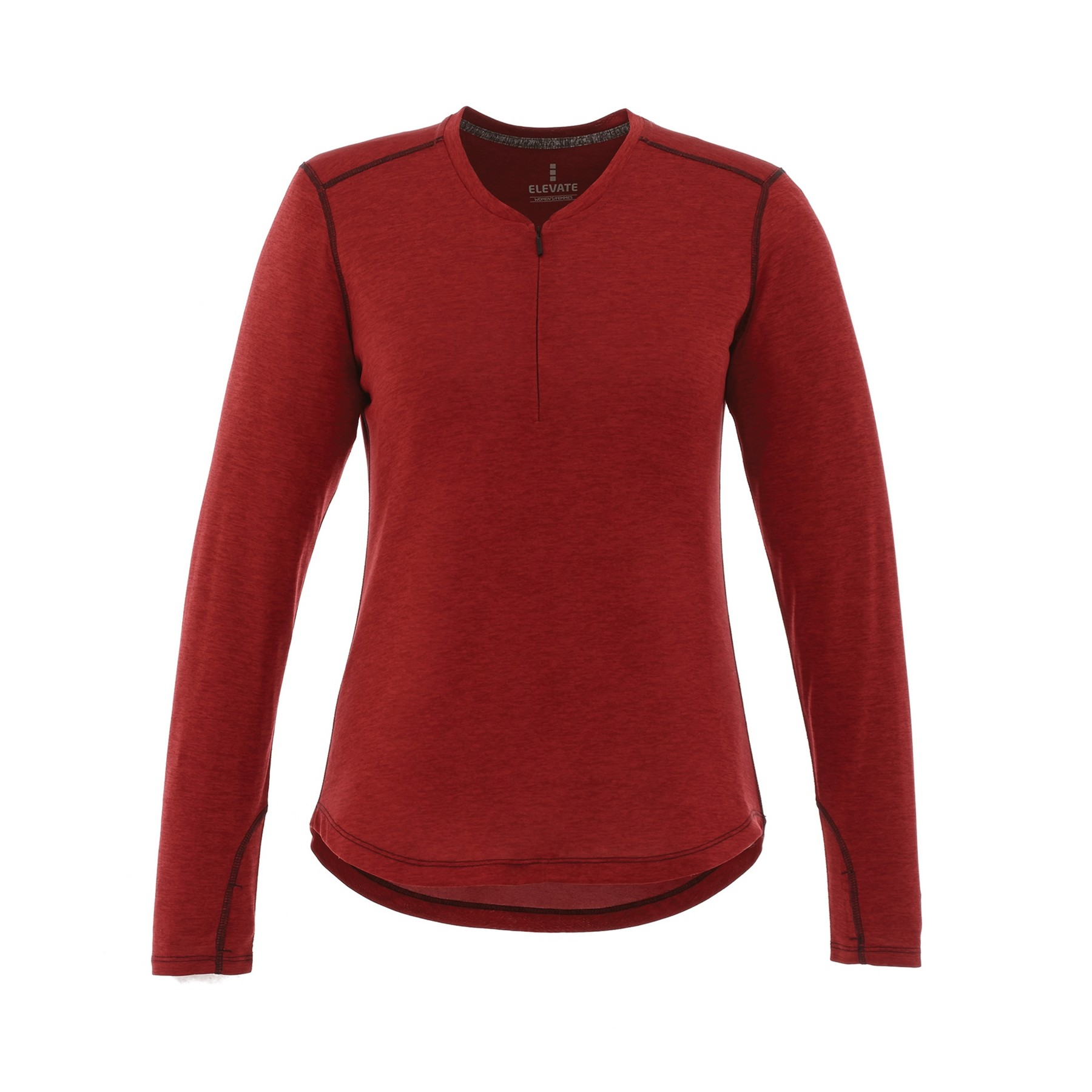 Quadra Long Sleeve Women's Knit Shirt, #97812 - Embroidered
