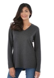 Women's Bromley Knit V-Neck Shirt, #98614 - Embroidered