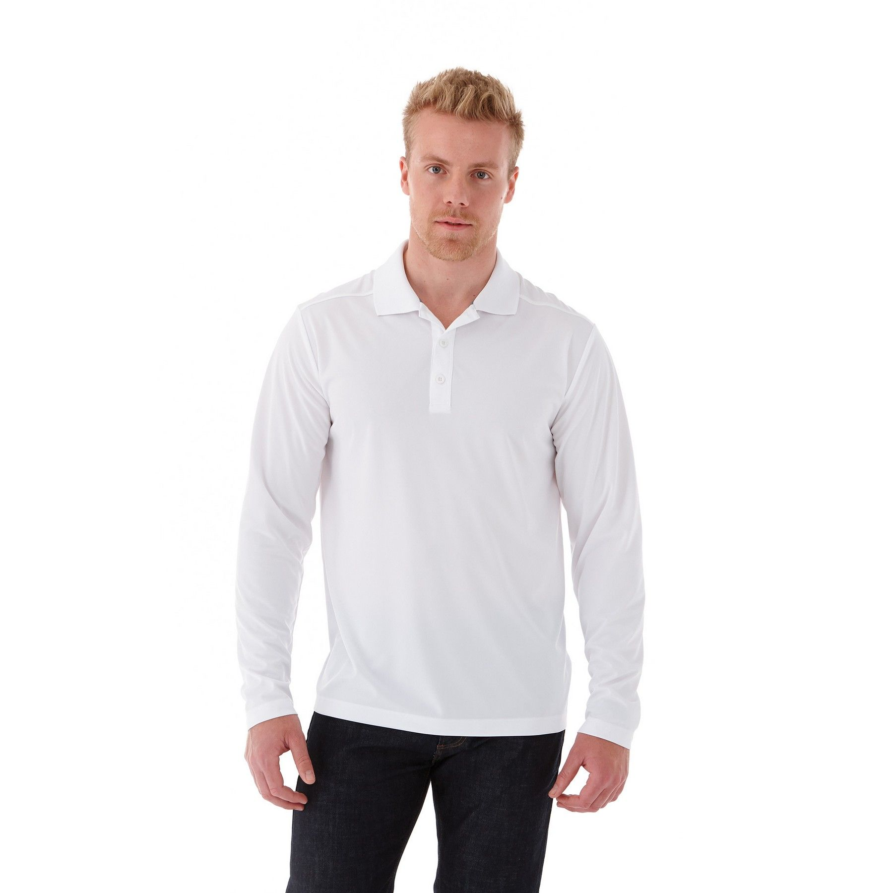 Mori Long Sleeve Men's Polo Shirt, #16255 - Embroidered