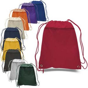Drawstring Cinch Bag W Large Zipper Front Pocket 18 Colors Available 6628 Ideastage Promotional Products