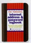 Custom Personal Internet Address & Password Logbook (Black)