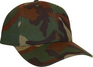 Custom Woodland Camo 6 panel structured cap