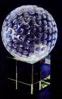 Small Optic Crystal Golf Ball Set Award