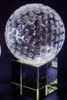 Optic Crystal Golf Ball Award