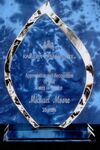Custom Torch Crystal Award (7