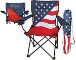 Custom Patriotic Captain Folding Chair