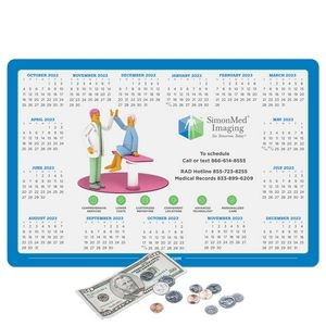 "Vynex® Peel&Place® Ultra Thin removable/repositionable adhesive Calendar Counter Mat-10""x15""x.015"""