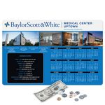 Custom Vynex Peel&Place Ultra Thin removable/repositionable adhesive Calendar Counter Mat-11
