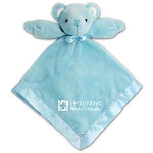 Baby Blanket W Attached Teddy Bear Blue 5k Embroidery