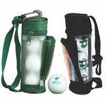 Mini Golf Bag Tournament Gift Pack w/3 Plain White Golf Balls & 2 3/4