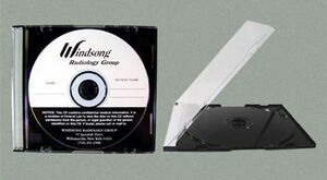 CD Slim Line Jewel Case w/Black Base