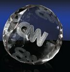 Custom Wedge Shaped Paperweight