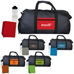 Custom Textured Linen Pocket Duffle Sport Bag