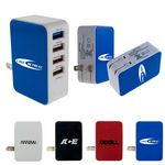 Custom UL 4 Port USB Folding Wall Charger