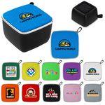Colorful Fabric Black Base Bluetooth Speaker