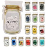 Mason Jar Bag Of Printed Candy w/ S Fill
