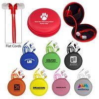 Colorful Premium Ear Bud Round Case