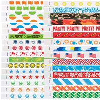 "¾"" Tyvek® In-Stock Patterned Design Wristbands"