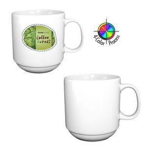 10 Oz  Titan Mug - 4 Color Process (White)