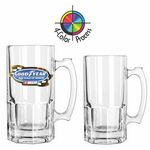 Custom 34 Oz. Clear Glass Beer Tankard (4 Color Process)
