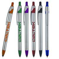 Slim Jen Silver stylus pen