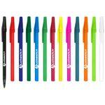 Custom Belfast B Ballpoint Pen Solid Colored Barrel Value stick pen