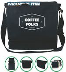 Custom Messenger Bag / Laptop Bag - (13x13x3) 10oz Canvas Black