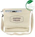 Custom Messenger Bag / Laptop Bag - (13x13x3) 10oz Canvas Natural
